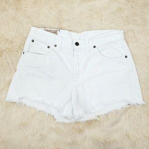 Polo Ralph Lauren 29 White Cut Off Jean Shorts